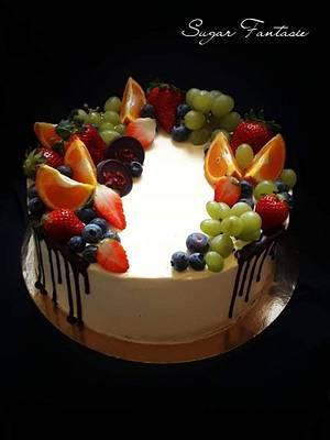 Fruit drip cake - Cake by Ildikó Dudek