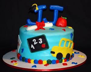 Preschool Graduation Cake - Cake by Jenn