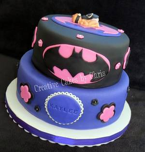 Batgirl Baby Shower - Cake by Creative Cakes by Chris