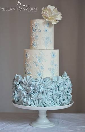 Serenity Ruffle Cake - Cake by Rebekah Naomi Cake Design