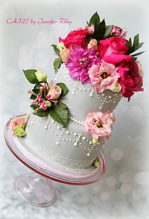 Floral and Lace  - Cake by Cake! By Jennifer Riley