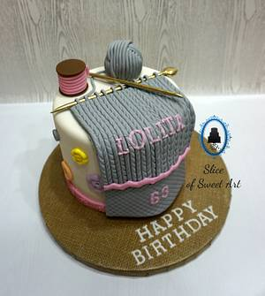 A Knitter's Birthday - Cake by Slice of Sweet Art