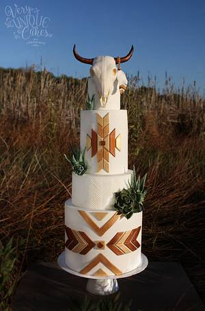 Southwestern Bohemian Chic - Cake by Very Unique Cakes by Veronique