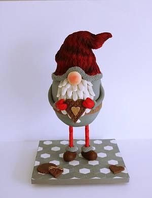 christmas gnome  - Cake by Cake Art Studio