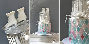 Ice skates and mosaic - Cake by Lorna