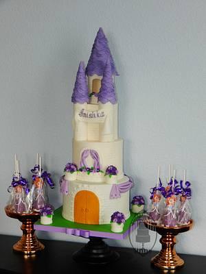 Sofia the First princess castle - Cake by Olga