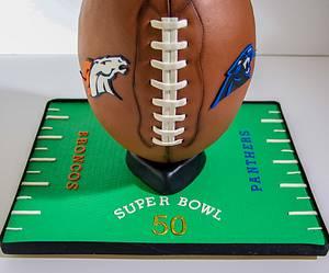 Super Bowl Cake 2016 - Cake by RedHeadCakes