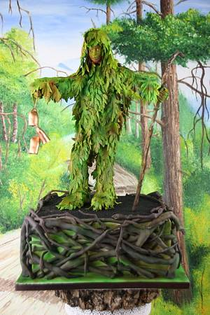 Trapajón, nature loving evil fighter - Sugar Myths and Fantasies collaboration - Cake by Artym