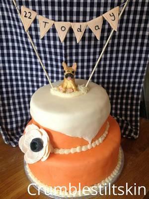 French bulldog cake topper - Cake by Wattkatiedid