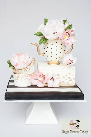 A Sugar Artists Tea Party - Cake by Ivone - Sugar Penguin Cakery