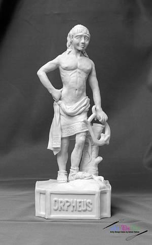 Orpheus with his lyre  (Grecoroman Cake Challenge) - Cake by Gulcin Tekkas
