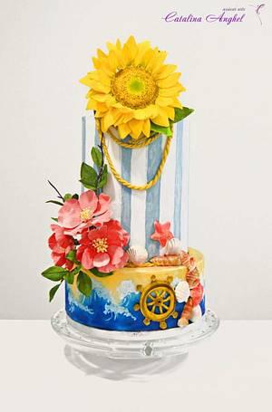 Sweet Summer wedding cake - Cake by Catalina Anghel azúcar'arte