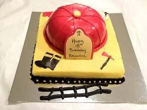 Fireman Hat - Cake by Dawn Henderson