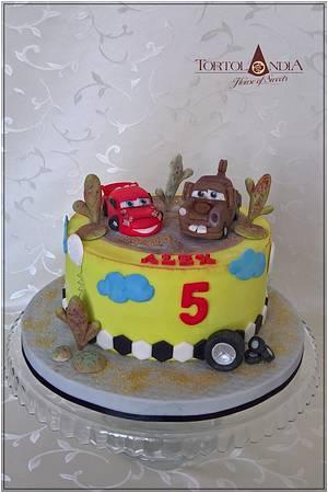 "Cars ""Mc Queen & Matter"" - Cake by Tortolandia"