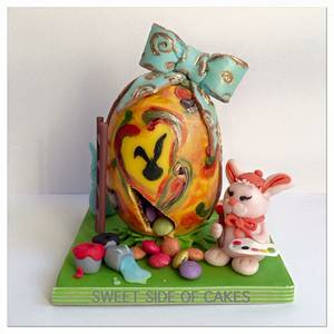 Tiny Easter Egg - 50 Shades of Easter Collaboration  - Cake by Sweet Side of Cakes by Khamphet