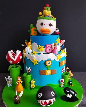 Bowser Jr..... and friends - Cake by Jenn Szebeledy  ( Cakeartbyjenn_ )