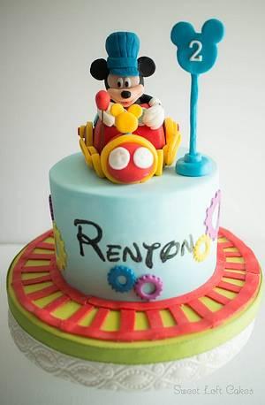 Mickey Mouse Train Conductor Birthday Cake - Cake by Heidi