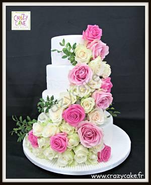 Cascade of roses - Cake by Crazy Cake