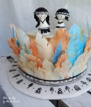 little indian twins cake - Cake by Marta Behnke