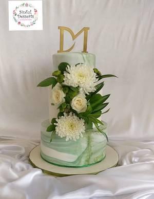 Green  wedding cake  - Cake by Archana