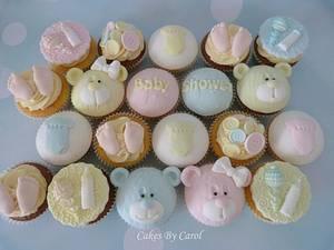 Baby Shower cupcakes - Cake by Carol