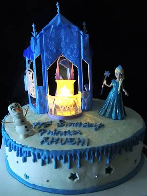 frozen cake  - Cake by steffy