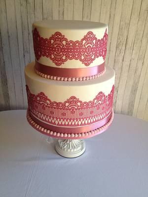 Pink sugar veil - Cake by Trickycakes
