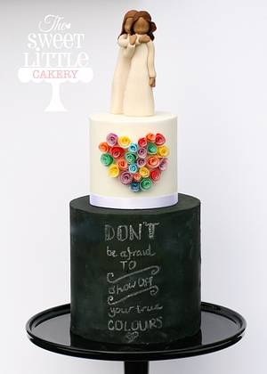Don't Be Afraid To Show Off Your True Colours - Cake by thesweetlittlecakery