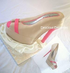 3D Platform Stiletto Cake - Cake by DeliciousDeliveries