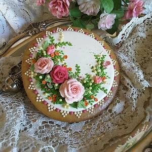 Roses around - Cake by Teri Pringle Wood