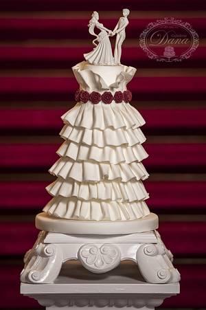 Wedding dress cake - Cake by Cofetaria Dana
