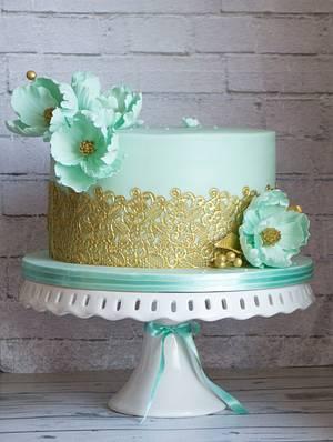 Wedding cake in tiffany - Cake by Vanilla & Me