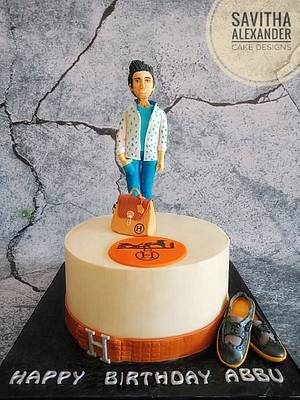 Hermes theme cake - Cake by Savitha Alexander