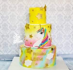 Unicorn rainbow cake - Cake by Faten_salah