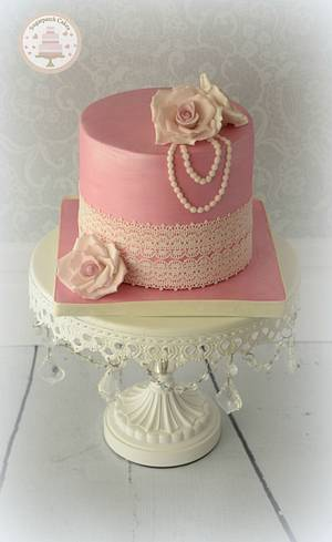 Shimmer and lace - Cake by Sugarpatch Cakes