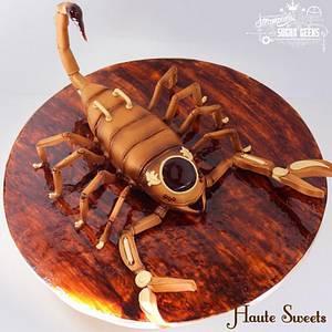 Steampunk Scorpion Cake - Cake by Hiromi Greer