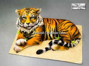 Tiger 3D Cake - Cake by MLADMAN