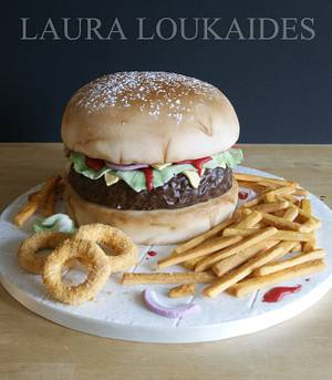 Burger Cake - Cake by Laura Loukaides