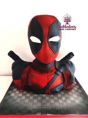Deadpool Cake - Cake by Babbaloos Cakes
