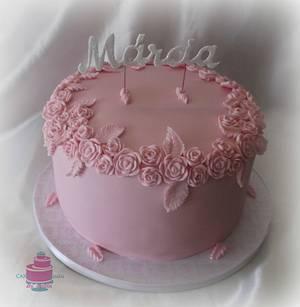 Pink Cake - Cake by CakesByPaula