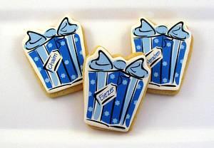 Gift Box Cookies - Cake by Cheryl