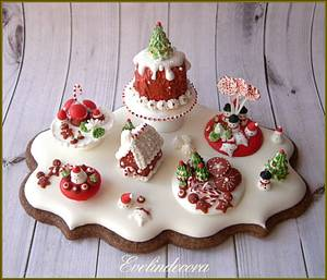 Royal icing cookie: Christmas miniature 🎄 - Cake by Evelindecora