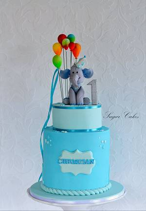 """""""Christian's Bright Balloons"""" - Cake by Sugar Cakes"""