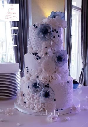 Wedding blues - Cake by Judith-JEtaarten