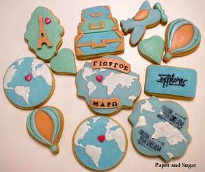 Travel themed cookies  - Cake by Dina - Paper and Sugar