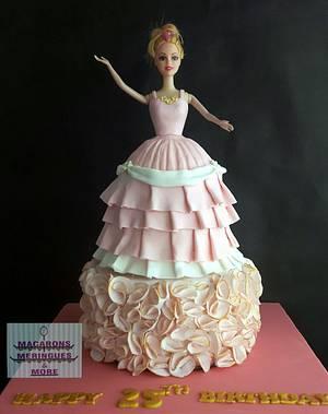 Barbie Princess Cake - Cake by RupalsCakes (MACARONS MERINGUES &MORE )