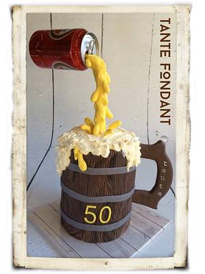 floating beercan - Cake by Tante Fondant