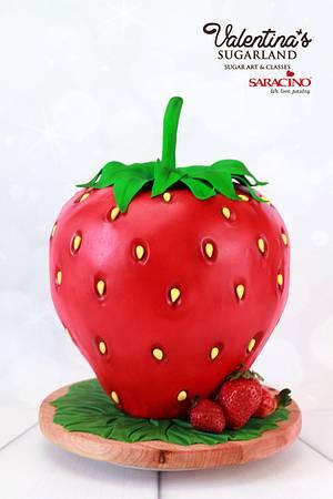Giant Strawberry - Cake by Valentina's Sugarland
