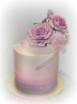 Purple Roses - Cake by Sandra Smiley