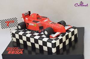 Formula 1 Ferrari Cake - Cake by Caramel Doha